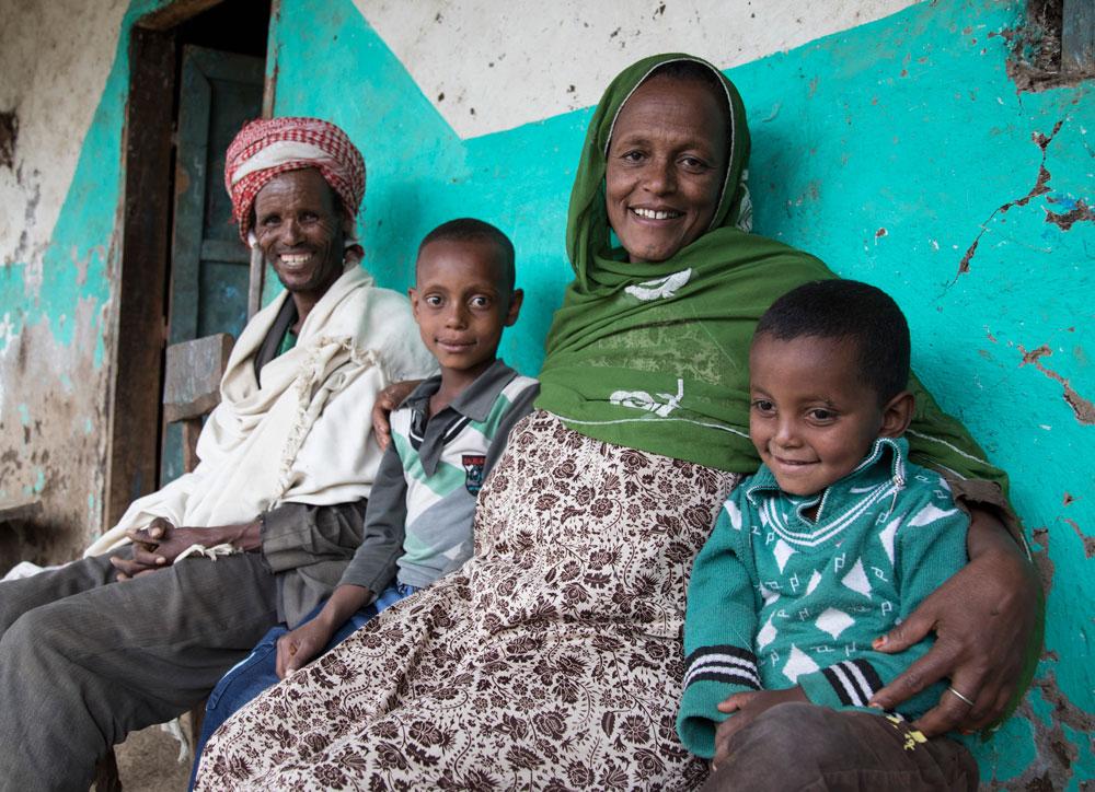 Zebenay and family