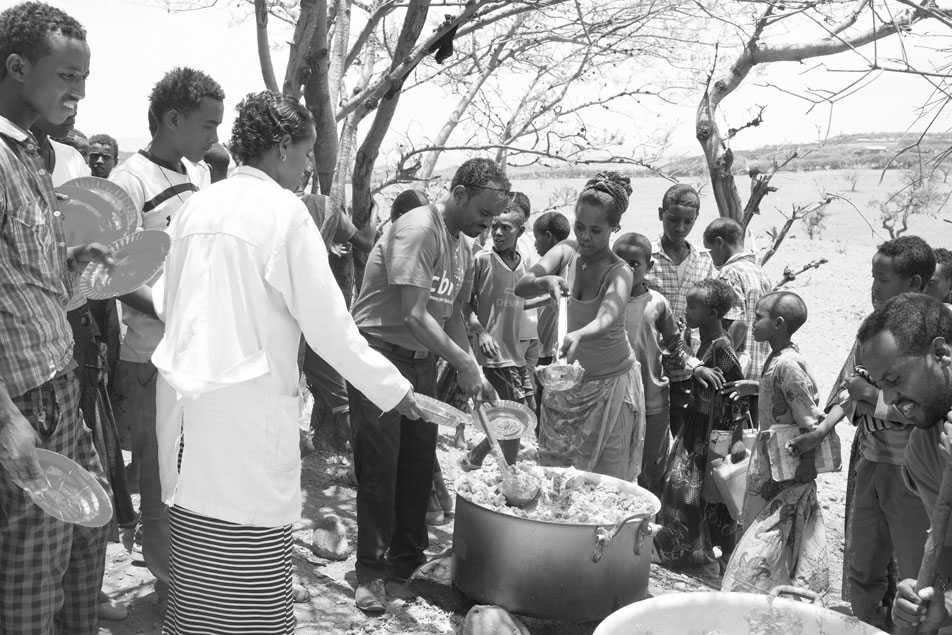 Ethiopia feeding program in action