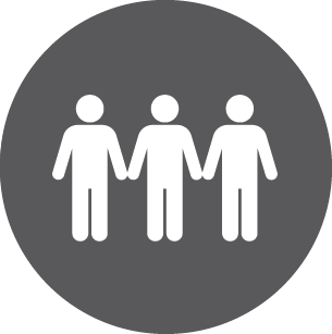 Icon of people holding hands