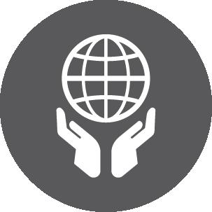 Icon of world globe